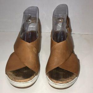 Pikolinos brown / tan platform sandals size 36